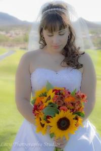 Gazing at bouquet